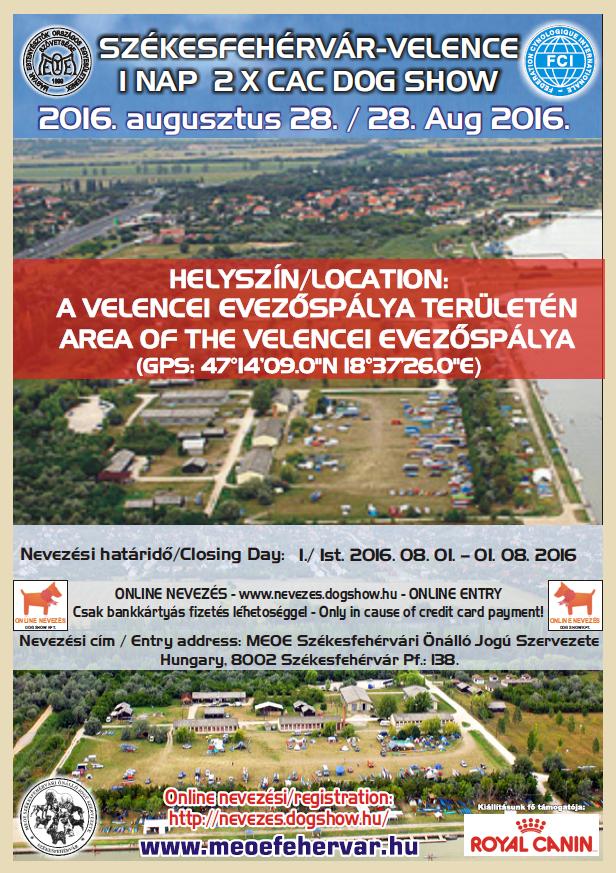 Székesfehérvár-Velence 1 nap 2xCAC dog show - 2016. augusztus 28.